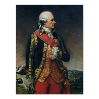 Jean-Baptiste de Vimeur  Count of Rochambeau Poster
