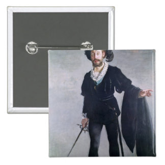 Jean Baptiste Faure  as Hamlet, 1877 2 Inch Square Button