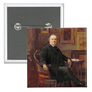 Jean-Baptiste Foucart  1894 2 Inch Square Button