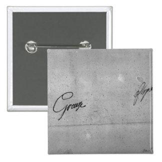 Jean-Baptiste Greuze's signature 2 Inch Square Button