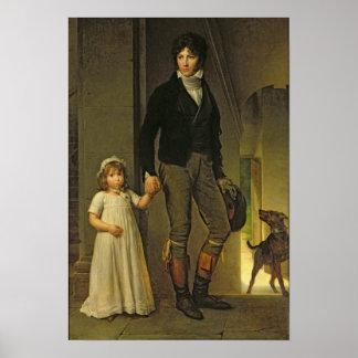 Jean-Baptiste Isabey y su hija Poster