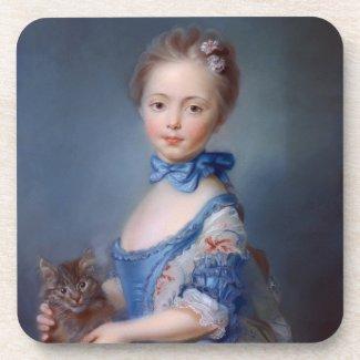 Jean-Baptiste Perronneau: Girl with Kitten