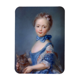 Jean-Baptiste Perronneau: Girl with Kitten Magnet