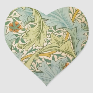 Jean-Baptiste Réveillon Style Antique Wallpaper Heart Sticker