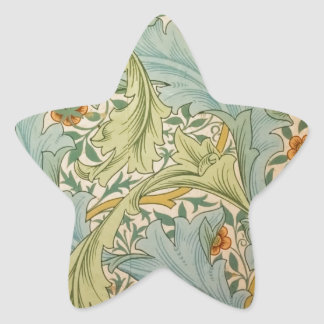 Jean-Baptiste Réveillon Style Antique Wallpaper Star Sticker