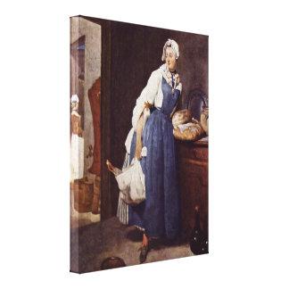 Jean-Baptiste Simeon Chardin - The Besorgerin Canvas Print