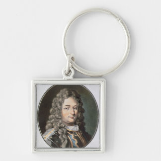 Jean Bart (1651-1702), 1789 (coloured engraving) ( Silver-Colored Square Keychain