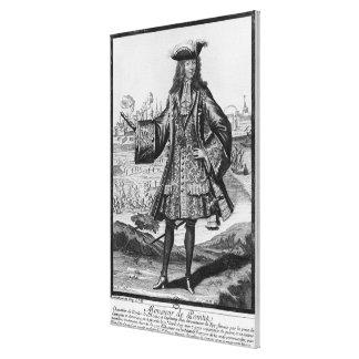 Jean Bernard Desjean  Baron de Pointis Canvas Print
