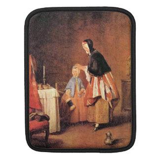 Jean Chardin - el retrete de la mañana Fundas Para iPads