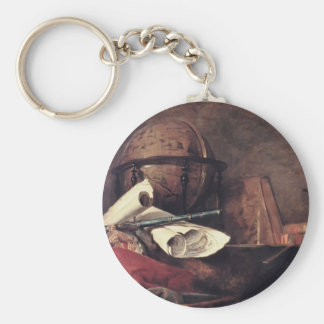 Jean Chardin- las cualidades de las ciencias Llaveros Personalizados