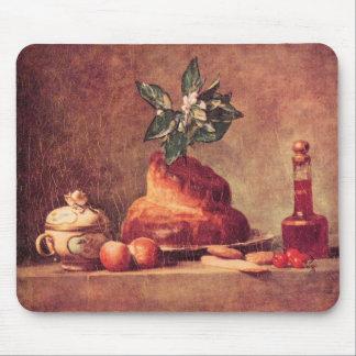 Jean Chardin - Still Life with Brioche Mousepads