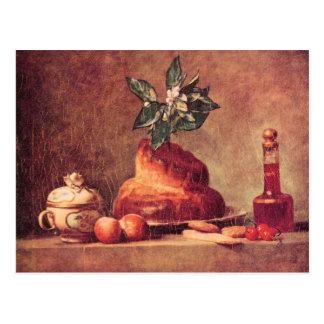 Jean Chardin - Still Life with Brioche Postcard