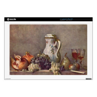 """Jean Chardin - Still life with porcelain jug Decals For 17"""" Laptops"""