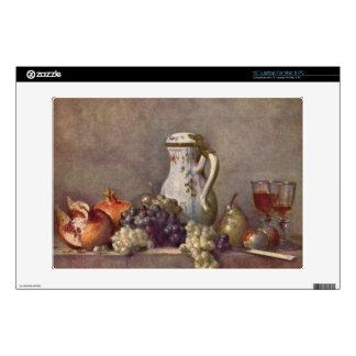 Jean Chardin - Still life with porcelain jug Laptop Skins