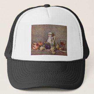 Jean Chardin - Still life with porcelain jug Trucker Hat
