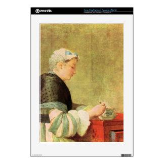 Jean Chardin - Tea Drinker Decal For PS3