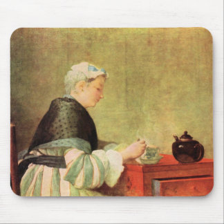 Jean Chardin - Tea Drinker Mouse Pad