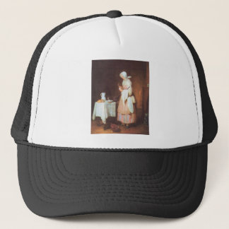 Jean Chardin - The caring maid Trucker Hat