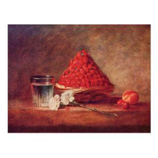 Jean Chardin - The strawberry basket Postcard