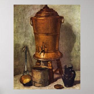 Jean Chardin - The water tank Print