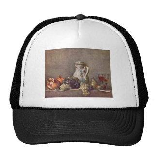 Jean Chardin - todavía vida con el jarro de la por Gorras