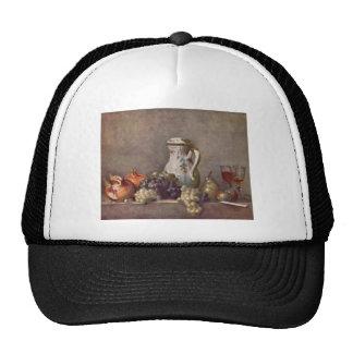 Jean Chardin - todavía vida con el jarro de la por Gorros Bordados