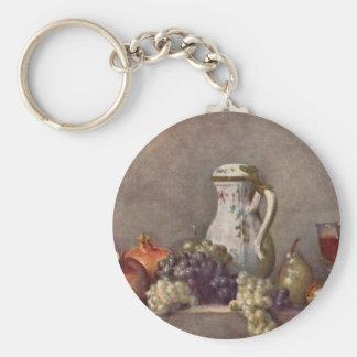 Jean Chardin - todavía vida con el jarro de la por Llavero Personalizado