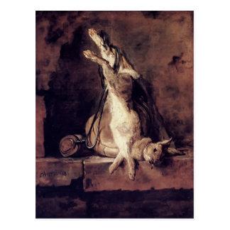 Jean Chardin-Wild Rabbit,Game Bag & Powder Flask Post Cards