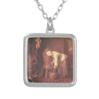 Jean Chardin- Woman Drawing Water from an Urn Custom Necklace