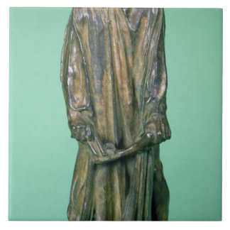 Jean d'Aire, from the Burghers of Calais (bronze) Ceramic Tile