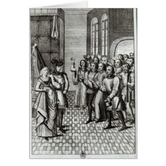 Jean de Bretagne  Count of Montfort Greeting Card