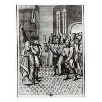 Jean de Bretaña Count de Montfort Tarjeta Postal