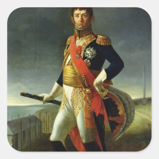Jean-de-Dieu Soult  Duke of Dalmatia, 1856 Square Sticker