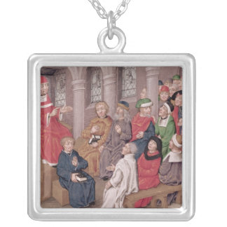 Jean de Gerson  preaching the Passion Silver Plated Necklace