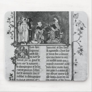 Jean de Joinville offering his book on St. Louis Mouse Pad