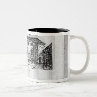 Jean de La Fontaine's  House at Two-Tone Coffee Mug
