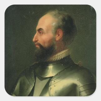 Jean de la Valette Calcomanía Cuadradas Personalizadas