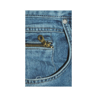 Jean Denim Fashion Pant Wrapped Canvas Gallery Wrapped Canvas