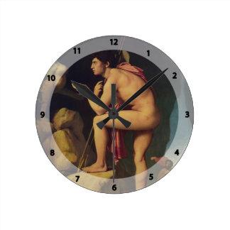 Jean Dominique Ingres- Edipo y la esfinge Relojes De Pared