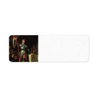 Jean Dominique Ingres- Joan of Arc Return Address Label