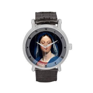 Jean Dominique Ingres- la Virgen del anfitrión Relojes De Mano