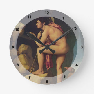 Jean Dominique Ingres- Oedipus and the Sphinx Wallclocks