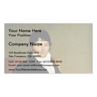 Jean Dominique Ingres-Portrait of Monsieur Rivière Business Card