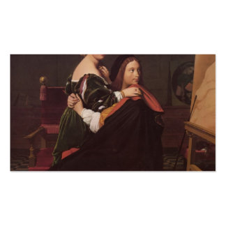 Jean Dominique Ingres- Raphael and the Fornarina Business Card Template