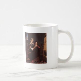 Jean Dominique Ingres- Raphael and the Fornarina Mugs