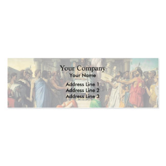Jean Dominique Ingres- The Apotheosis of Homer Business Card