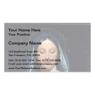 Jean Dominique Ingres- The Virgin of the Host Business Card Templates