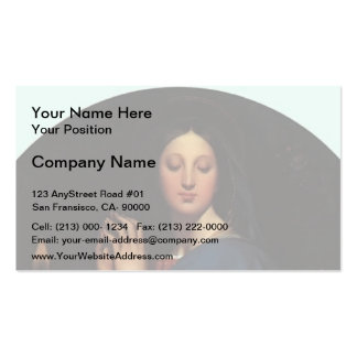 Jean Dominique Ingres- The Virgin of the Host Business Card