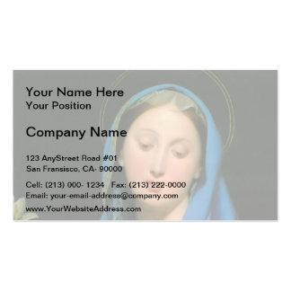 Jean Dominique Ingres- Virgin of the Adoption Business Card Templates