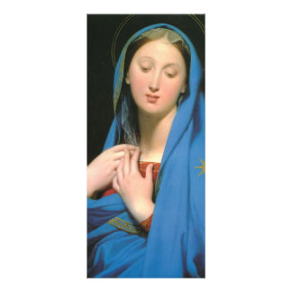 Jean Dominique Ingres- Virgin of the Adoption Rack Card Design